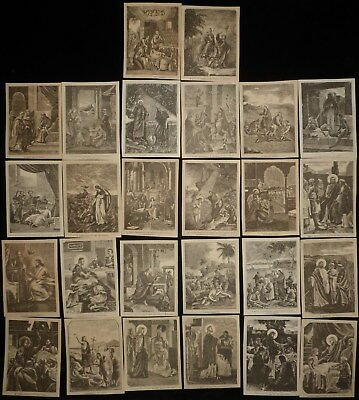 26 Rare Antique Icon Lithograph Scenes Of Christ's Life Work And Miracles.