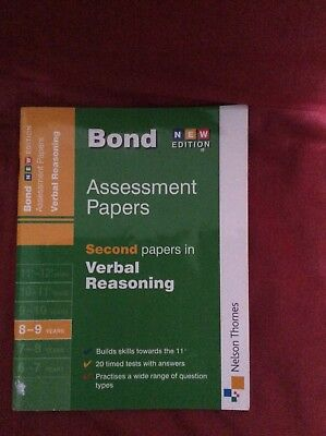 Bond 11+: Verbal Reasoning: Assessment Papers: 5-6 years by Frances Down, J. M.