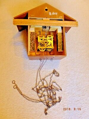 Schmeckenbecher Germany Cuckoo Clock 8 day Movement 34/1 in Case and Chain