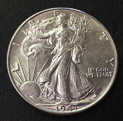 1947-P Walking Liberty Half Dollar 50C - No Reserve