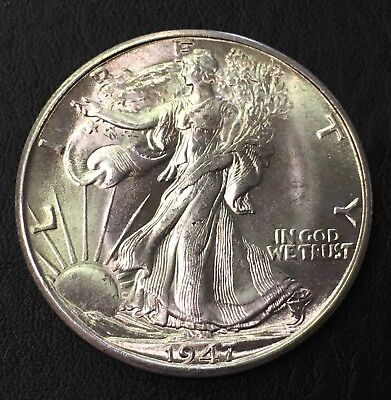 1947-D Walking Liberty Half Dollar 50C - No Reserve