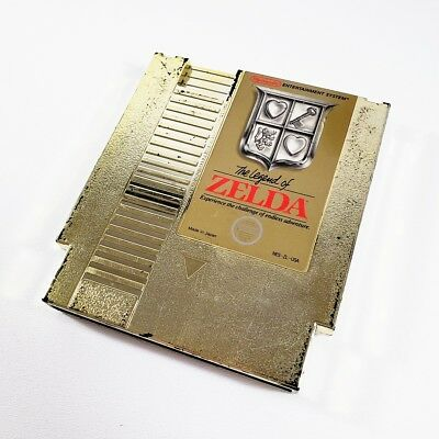 The Legend of Zelda - Gold Cart Only, Cleaned & Tested, Saves! (Nintendo NES)