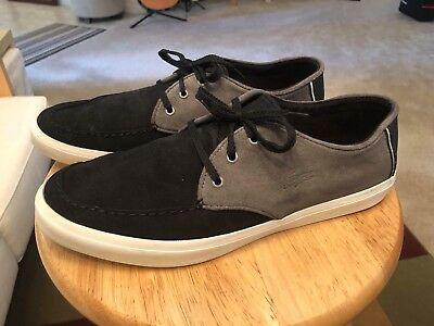 9348875971a9 LACOSTE SEVRIN BLACK GREY Men s US10 Suede Sneakers Shoes -  49.90 ...