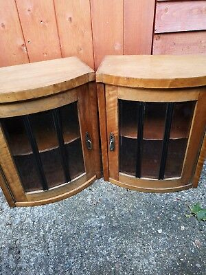 Vintage  Wooden Wall Mounted Cabinets Antique  Retro Rustic Kitchen Furniture