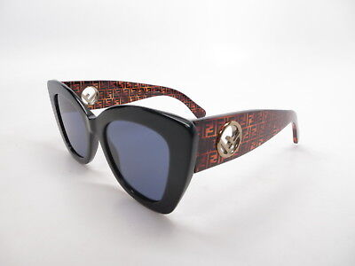 c19bf02cde3a New Authentic Fendi FF 0327 S 807KU Black and Brown with Blue Avio  Sunglasses