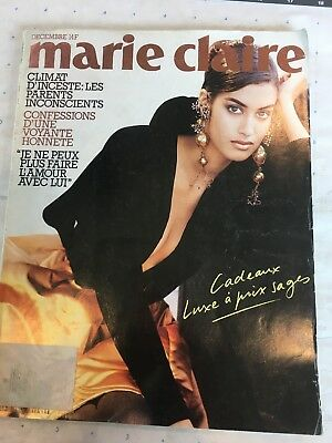 vtg Marie Claire French Magazine back issue December 1990 fashion culture recipe