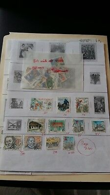 Czechoslovakia STAMPS,NICE LOT ON 9 ALBUM PAGES,MOSTLY USED