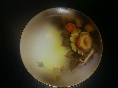 Noritake Vintage Small Dish Hand painted Roses Lovely