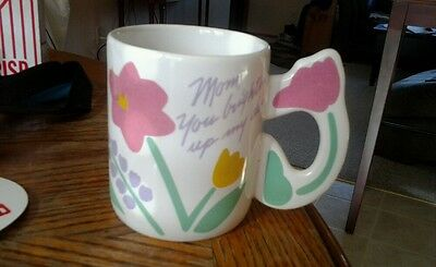 AVON Especially for You Mug Mom, You Brighten My Day! Mug with Flowers -Tulips