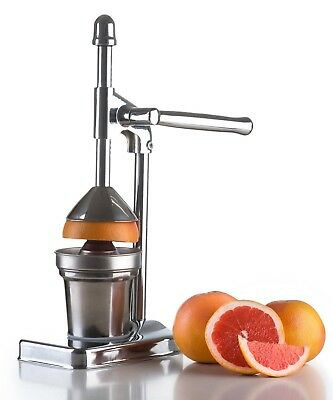 Stainless Steel Manual Citrus Juicer - Chrome Orange Lemon Manual Juice Squeezer