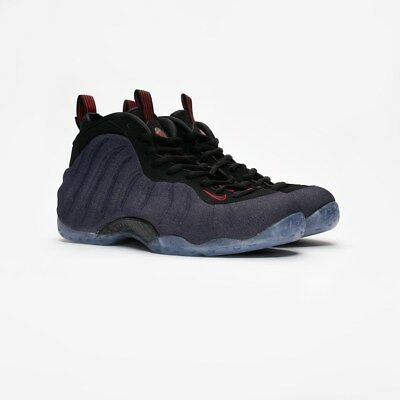uk availability a5156 017f6 ... discount nike air foamposite one denim obsidian black university red  314996 404 us7.5 54d76