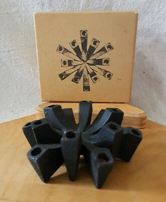 VTG Mid Century Handcrafted Cast Iron Metal HALLMARK Danish Taper Candle Holder