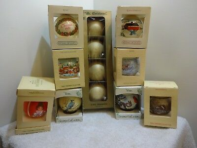 Vintage Christmas Tree Glass Ornament Assortment Hallmark Decoration Lot