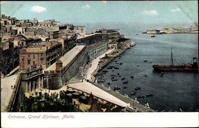 Ak Malta, View of the Entrance of the Grand Harbour - 1960915