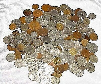 Large Collection Lot of over 200 Mostly EARLY GREAT BRITAIN COINS Shilling Pence