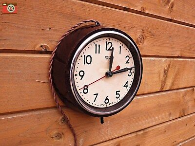Vintage Retro Smiths Wall Clock, Electric. Bakelite, Restored And Cleaned.