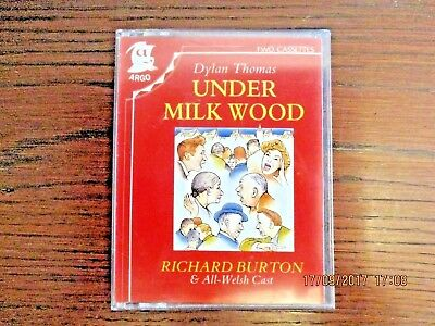 Under Milk Wood Dylan Thomas Audio Book on 2 Tape Richard Burton All-Welsh Cast