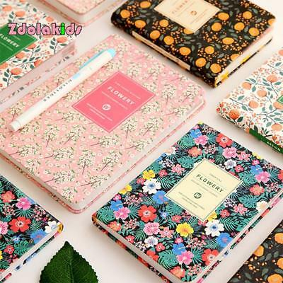 PU Leather Floral Flower Schedule Book Diary Weekly Planner Notebook Of School