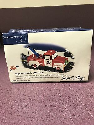 Department 56 Snow Village Village Service Vehicle-AAA Tow Truck-BOX
