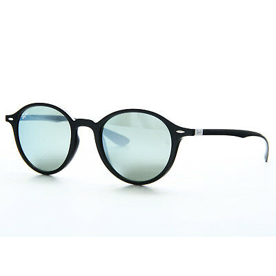 b000016a5fd0d Ray Ban Round Liteforce Sunglasses Non-Polarized Silver Flash RB 4237 601 30