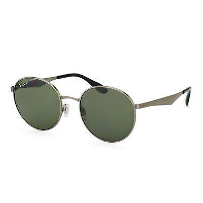 7921887a6a1 RAY BAN SUNGLASSES Round Gunmetal Green G-15 Polarized RB3537 004 9A ...