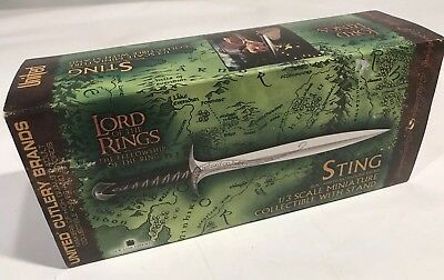 "New ""Sword of the Sting"" - Lord of the Rings UC1264MIN Mini Sword/Letter Opener"