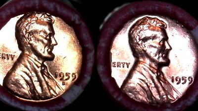 1959 P & D Bu Rolls Lincoln Memorial Cents Sealed Unsearched Bu Coins - Private