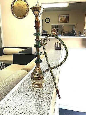"Hookah Alibaba Aladdin 100 % Brass 15"" Hookah Antique Collection Smoking Accessy"