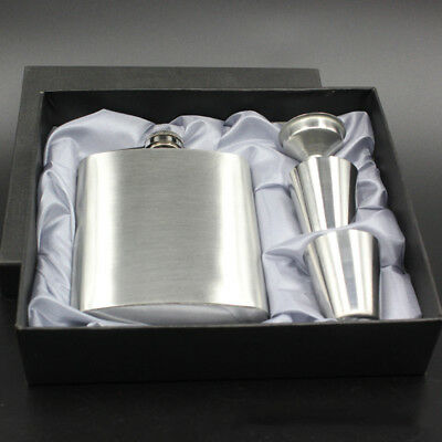 7OZ Portable Stainless Steel Hip Flask Liquor Alcohol Pocket With Funnel