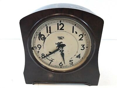 Vintage Smith Sectric Bakelite Bodied Collectable Clock Wired Retro Different