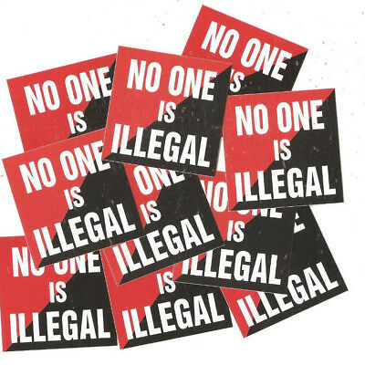 25 No One is illegal Aufkleber stickers Punk Antinazi AFA Gegen Nazis Antifa 161