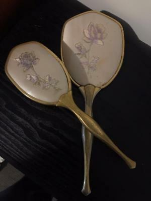 Antique Brush & Mirror Set