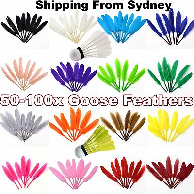 50/100x Goose Feather DIY Crafts 10-15cm Custome Feathers Exquisite Wedding Part