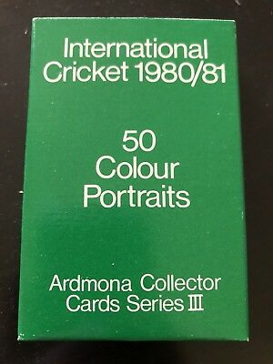Ardmona Cricket Collector Cards Empty Card Box / Packet/ Packaging