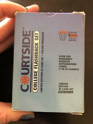 Courtside College Flashback Set Empty Card Box / Packet/ Packaging
