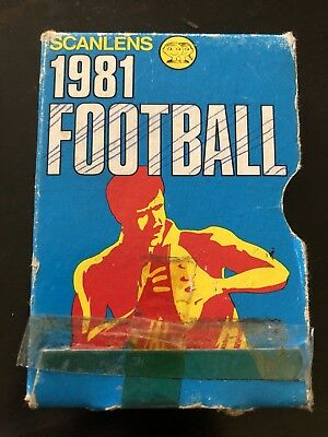Scanlens 1981 Football Empty Card Box / Packet/ Packaging