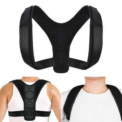 Posture Corrector Brace Women Mens BAD Back Support Clavicle Shoulder Body Belt