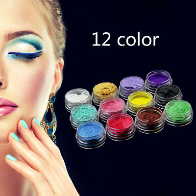 12Pcs DIY Mineral Mica Pigment Powder For Soap Eyeshadow Cosmetics Colorant Dye