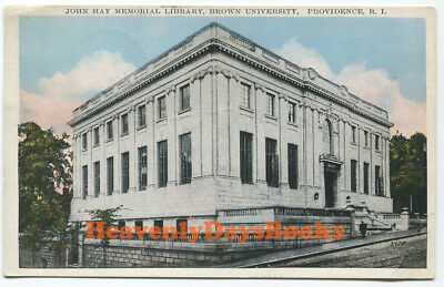 SIGNED HP LOVECRAFT Holographic Postcard BROWN UNIVERSITY John Hay Library 1934