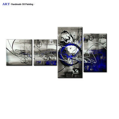 Large Framed Modern Abstract Oil Painting on Canvas Contemporary Wall Art Abs241