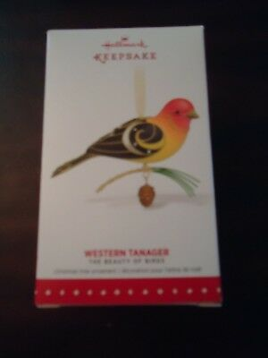NEW 2015 Western Tanager from the Beauty of BIRDS Hallmark Series #11 New in Box