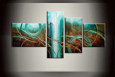 Large Framed Modern Abstract Oil Painting on Canvas Contemporary Wall Art Abs234