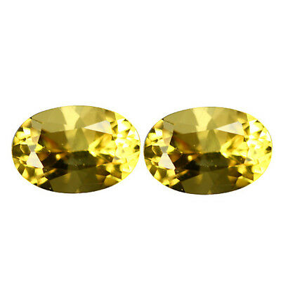 1.27Ct Lovely Oval cut 7 x 5 mm 100% Natural AAA Yellow Beryl