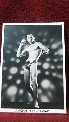 "Gay Male Nude Vintage Postcard ANCIENT GREEK GAMES "" SHOTPUT"" Model-HENRY HODGES"