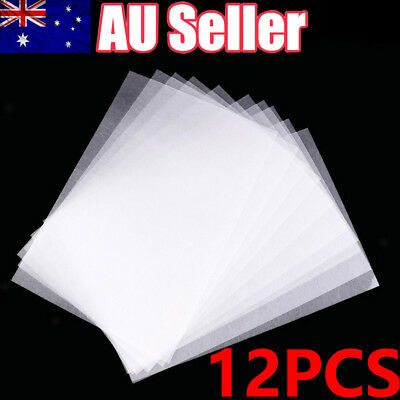 12x DIY Heat Shrink Paper Film Sheets for Jewelry Making Craft Deco Rough Polish
