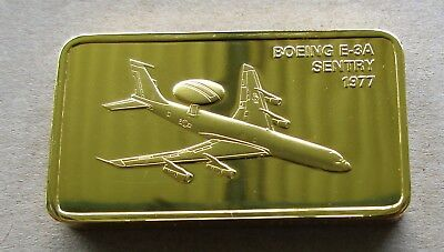 The Janes Medallic Register...boeing E-3A Sentry...usa 1977....gold On Bronze