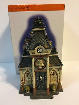Dept 56 Snow Village Halloween Grimsly's Family Crypt #807302 With Box
