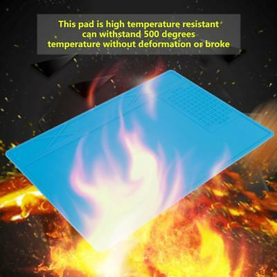 Heat Insulation Silicone Pad Soldering Mobile Phone Repair Maintenance Mat Blue