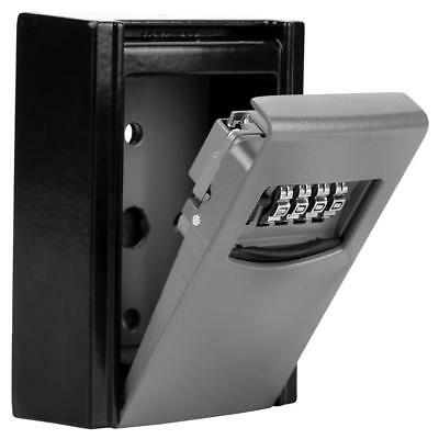 4-Digit Outdoor High Security Wall Mounted Key Safe Box Code Secure Lock Storage