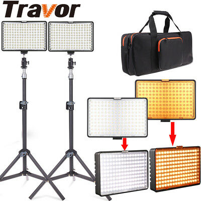 2 x LED Studio Video Continuous Light Lamp For Camera DV Camcorder Lighting Kits